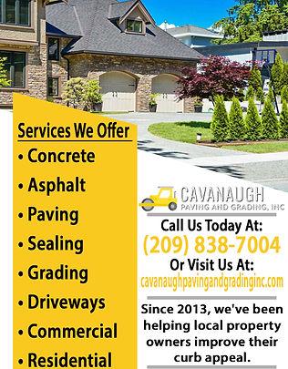 Cavanaugh Paving & Grading Construction.