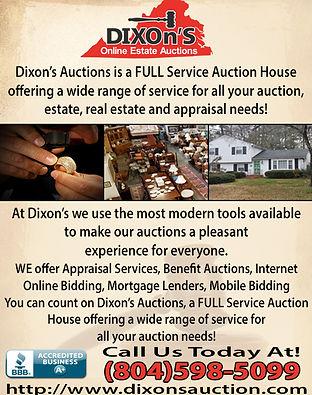 Dixon's Auctions & Estate Sales 2017 (1)