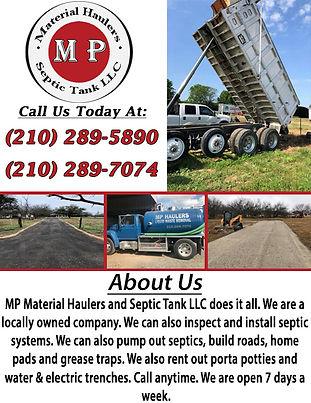 MP Material Haulers and Septic Tank LLC.