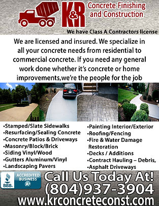 K&R Concrete finishing & Construction LL