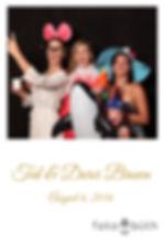 Wedding photo booth polaroid