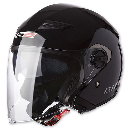 LS2 OF569 Track Openface Helmets Gloss Black