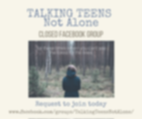 Talking Teens support group closed Facebook group Parenting support