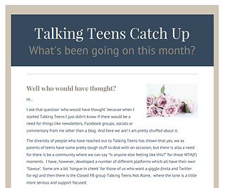 Talking Teens newsletter Parenting Advice
