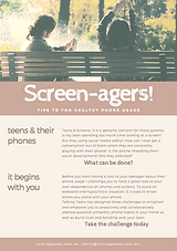 Teens and computer screens Screen-agers Social media