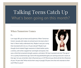 June 2017 Talking Teens Monthly Newsletter Parenting advice raising teenagers