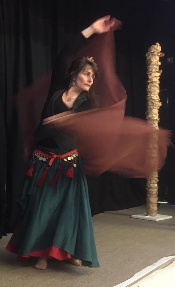 Nicole belly dancing