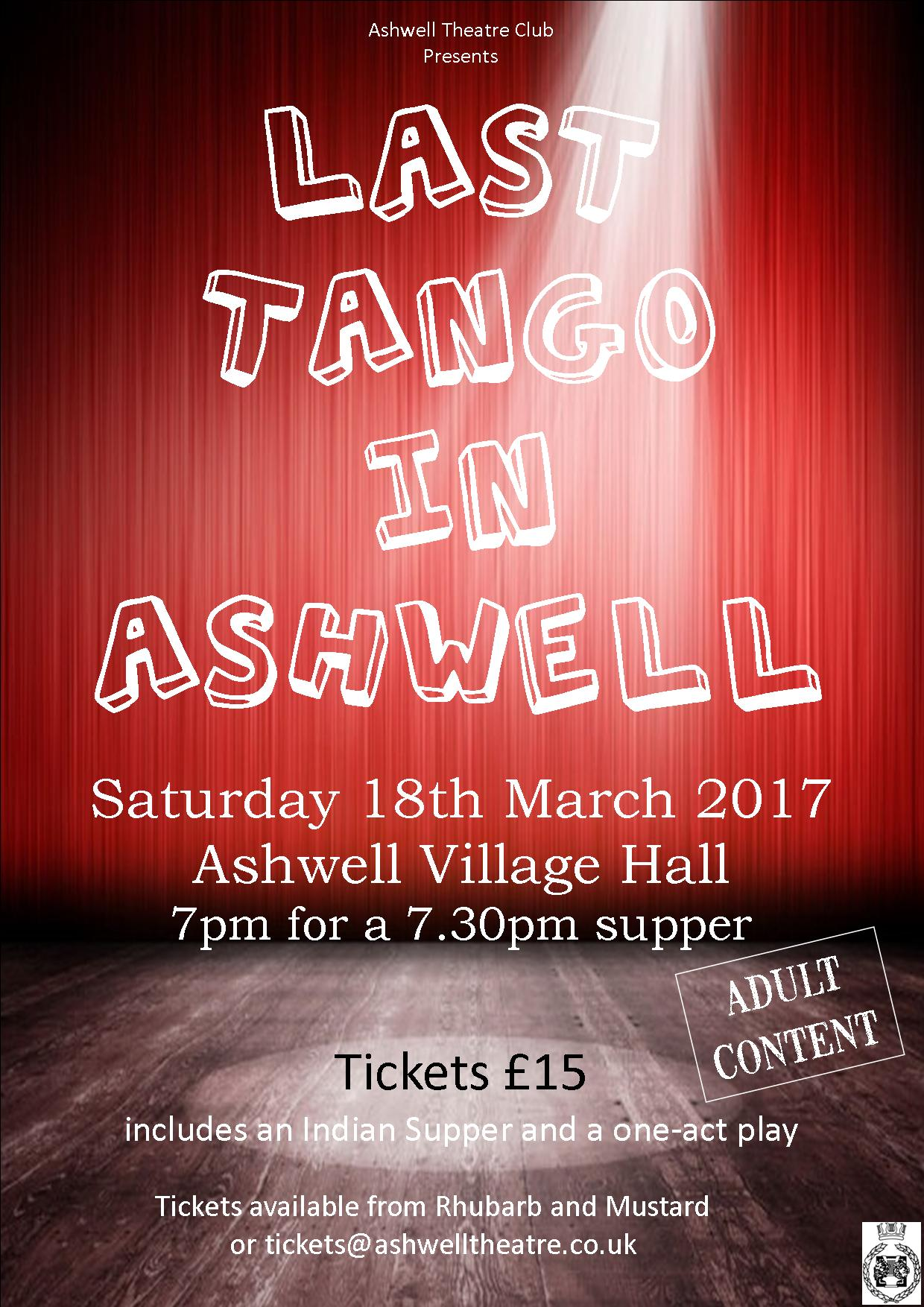 Last Tango in Ashwell poster