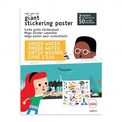 Under water giant sticking poster by Makii