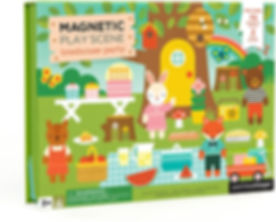 Treehouse magnetic play set Petit Collage woodland forest animals