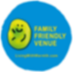 Living with Warmth Family Friendly Venue window sticker website button