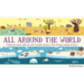 All Around the World: Animal Kingdom reusable sticker panorama