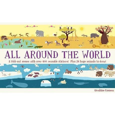 All Around the World: Animal Kingdom reusable sticker panorama