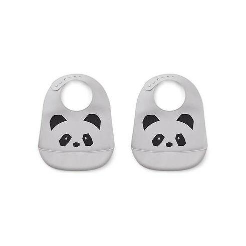 liewood-tilda-silicon-bib-2-pack-panda-2