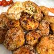 Polpette di pollo e verdure