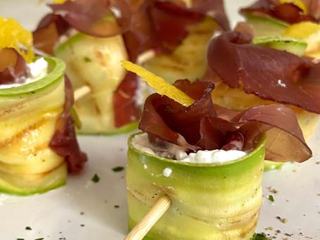 Involtini di zucchine e bresaola