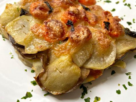 Sformato di patate e melanzane