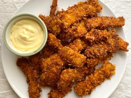 Straccetti di pollo ai cornflakes