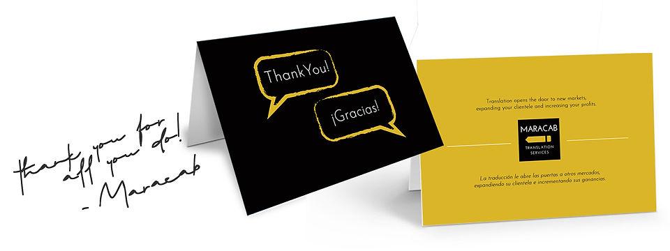 Maracab Thank you Card