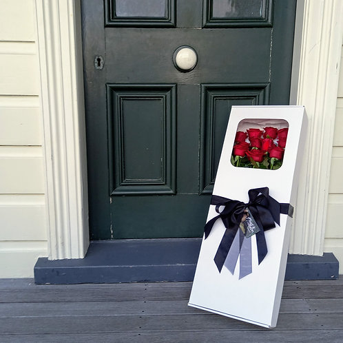 Send Love - Boxed Red Roses