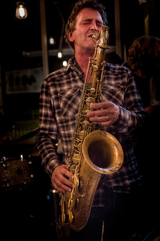 Ed Jones plays sax