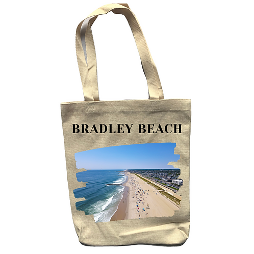 Bradley Beach Linen Tote Bag - Double Sided -