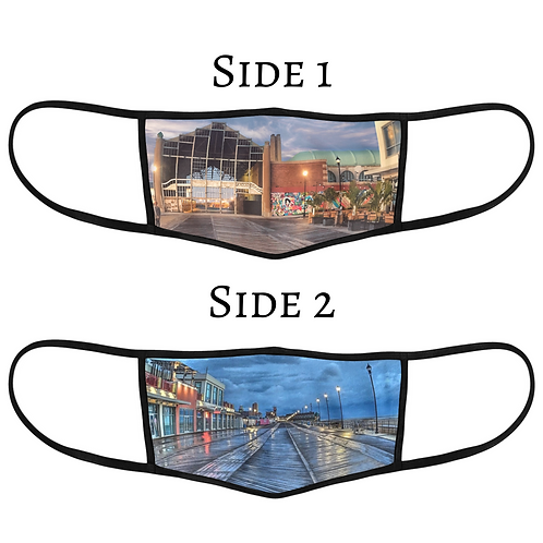 Reversible 3-Layer Face Mask - Casino