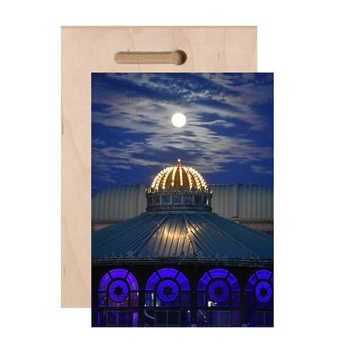 Super Moon Print On Wood
