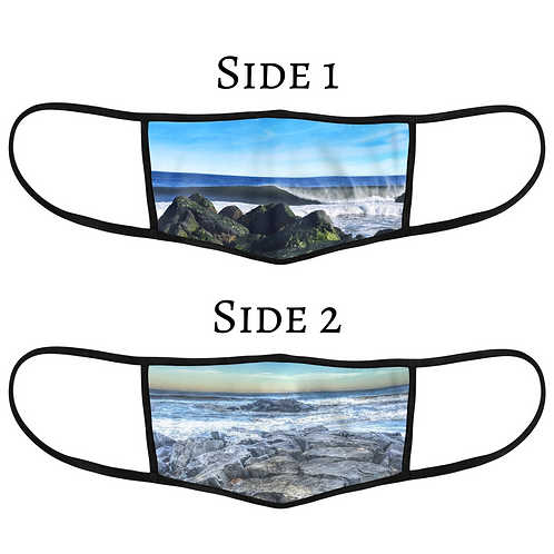 Reversible 3-Layer Face Mask - Blue Skies