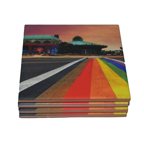 Rainbow Walkway Coaster