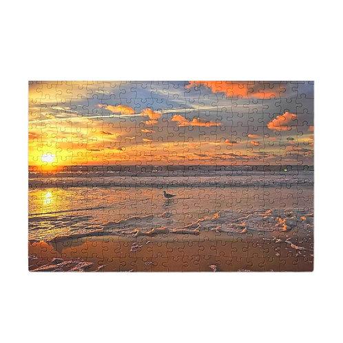 Puzzle & A Print: Sunny Seagull Sunrise
