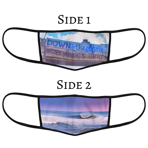 Reversible 3-Layer Face Mask - Down The Shore