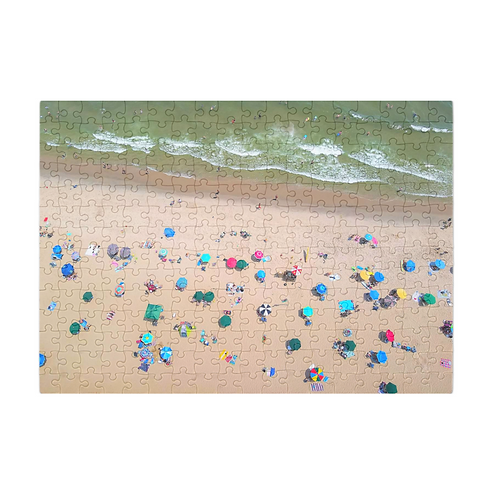 Puzzle & A Print: Sea Of Umbrellas