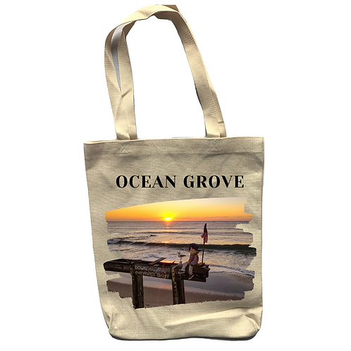Ocean Grove Ralph Linen Tote Bag - Double Sided