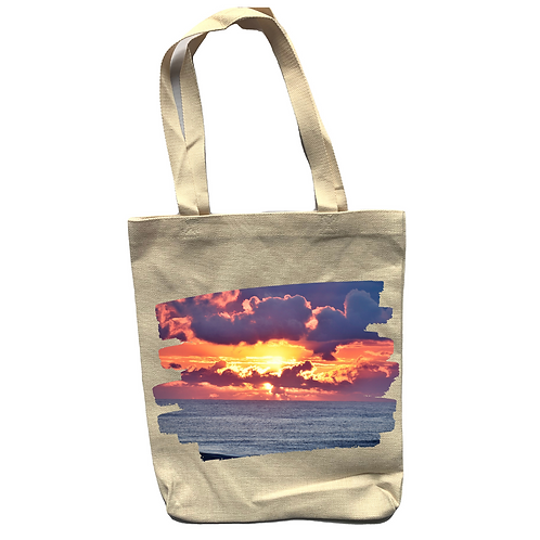 Crack Of Dawn Linen Tote Bag - Double Sided -