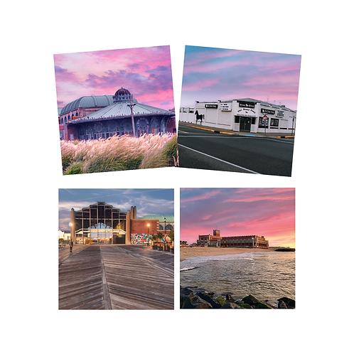 Asbury Park Sunrise Coaster Set of 4