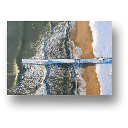 Belmar Frozen Fishing Pier Print on Canvas, Metal, Paper