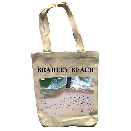 Bradley Beach Linen Tote Bag - Double Sided