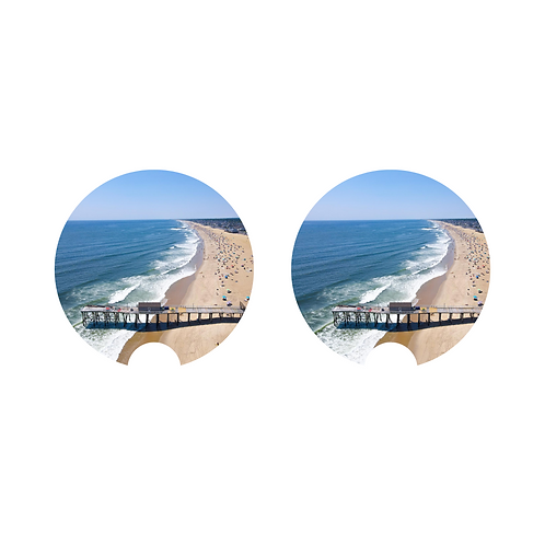 Car Coaster - Belmar Beach x Fishing Pier