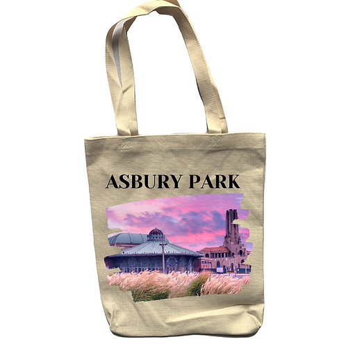 Asbury Park Sunrise Linen Tote Bag - Double Sided
