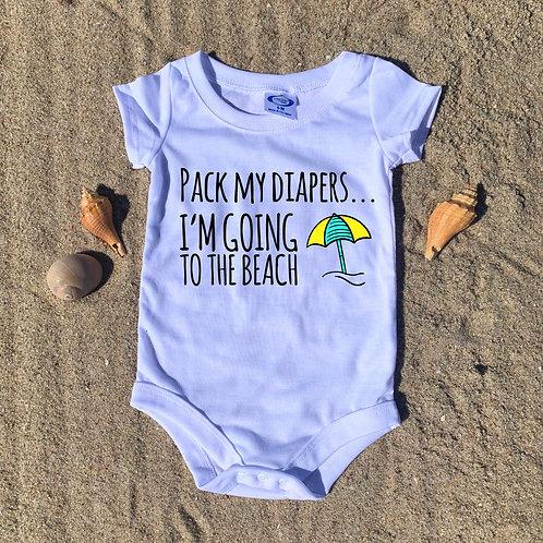Pack My Diapers Baby Onesie