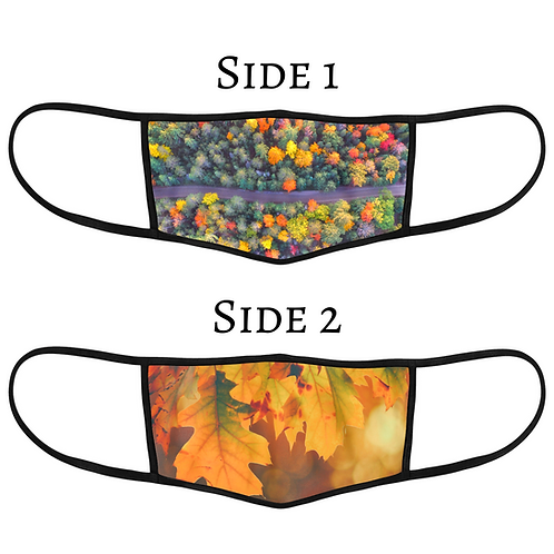NEW Reversible 3-Layer Face Mask - Autumn Leaves