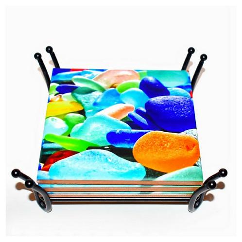 Seaglass Coaster