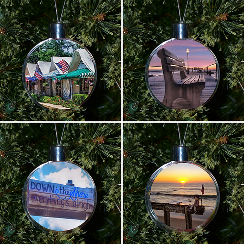 Ball Ornament - Ocean Grove Set of 4
