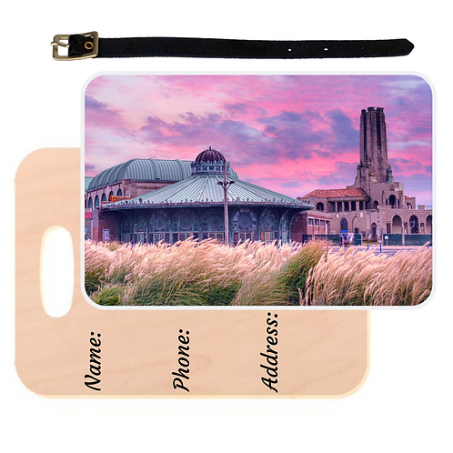 Asbury Park Sunrise Luggage Tag