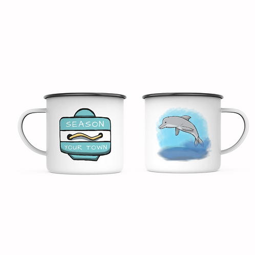 Personalize With Your Town Beach Badge Mug!