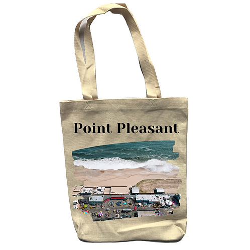 Point Pleasant Linen Tote Bag - Double Sided