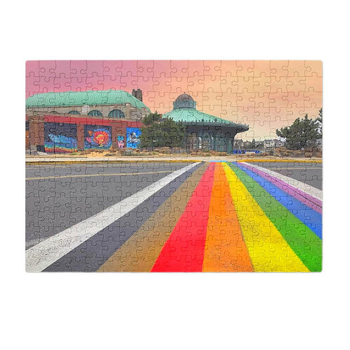 Puzzle & A Print: Rainbow Walkway Puzzle