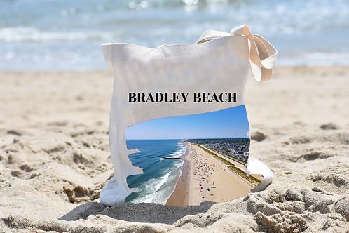 Bradley Beach Linen Tote Bag - Double Sided -