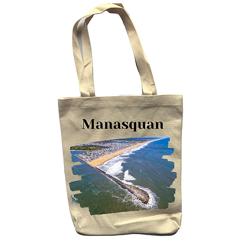 Manasquan Linen Tote Bag - Double Sided